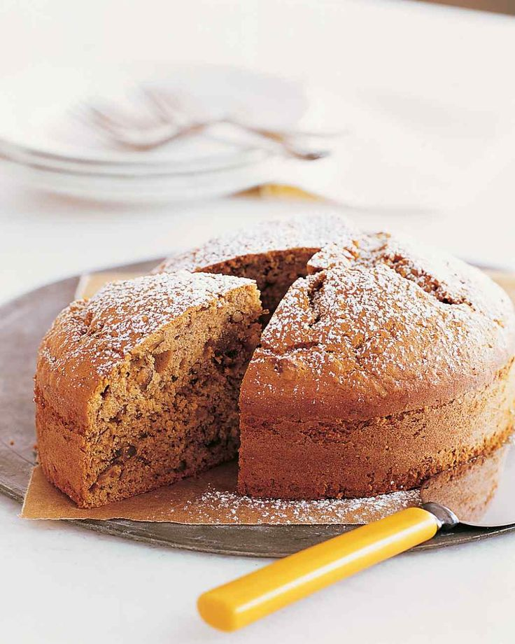 Banana-Pecan Cake | Martha Stewart Living - Another one-layer cake that's as easy to make as it is lovely to look at.