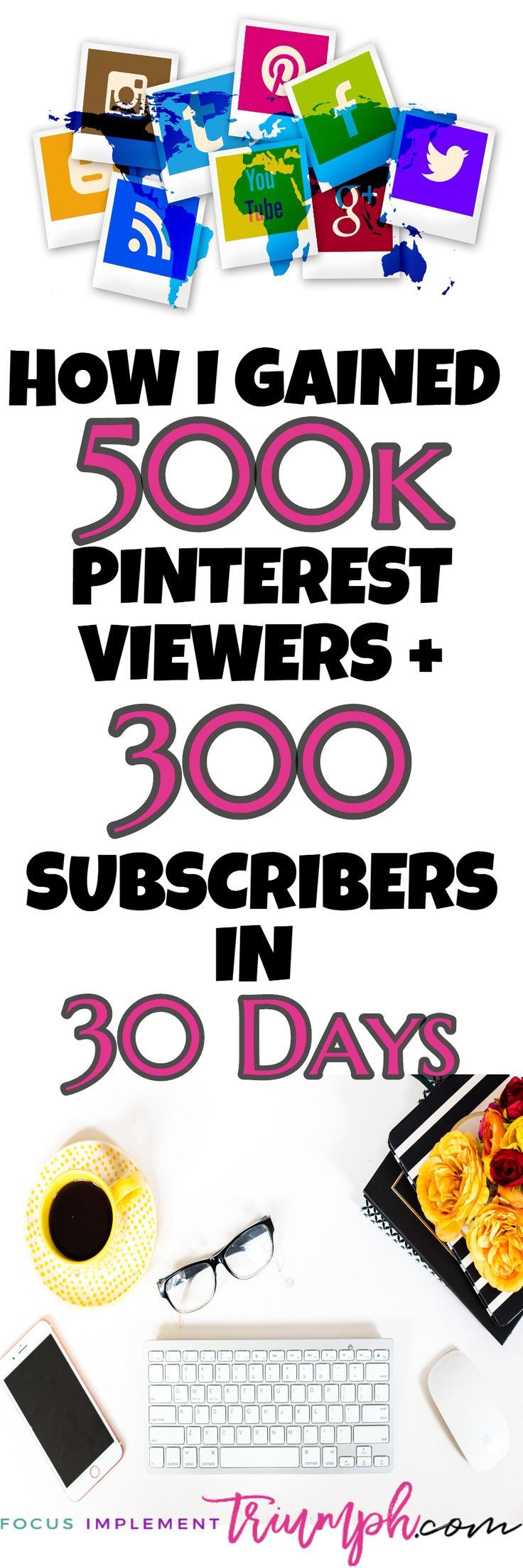 Are you struggling to gain new subscribers? Frustrated because no one is reading your blog? This post shares the EXACT 5 Step Strategy I used to gain 500K Pinterest Monthly Viewers & 312 New Subscribers IN 30 DAYS! | Email List Building, How to Get an Email List, Email List Ideas, Grow My Email List, Email List Growth, Email List for Bloggers, Email List Tips, email list marketing, email list social media #emailmarketingtips #bloggingtips #emaillist