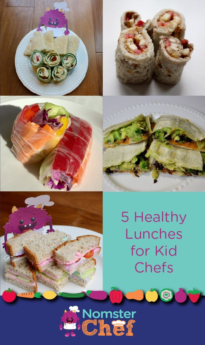 5 Healthy Lunches for Kid Chefs | Cucumber Hummus Rollups | PB&J Sushi | Rainbow Veggie Rice Rolls | Sweet Potato Quesadillas | Unicorn Toast   Cooking for kids, Recipes kids can make themselves, Recipes kids can cook, child nutrition, healthy food for kids, kid-friendly food, lunch