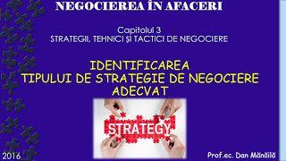 Profu`economist: IDENTIFICAREA TIPULUI DE STRATEGIE DE NEGOCIERE AD...