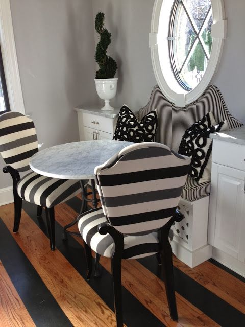 haute indoor couture kitchens french kitchen bistro table built in banquette dining banquette striped banquette black and white banq - Dining Banquette