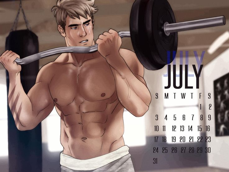 APH 2P Germany Lutz Beilschmidt July Calendar by ask-p2-germany.tumblr.com