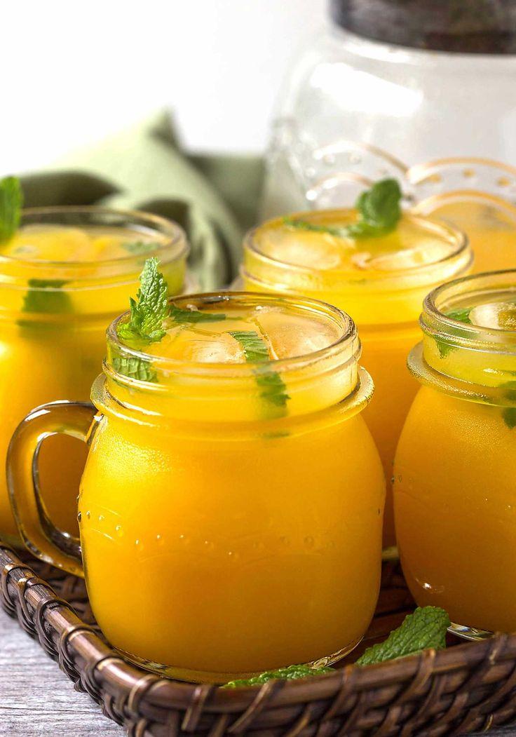 Healthy, delicious & naturally sweetened fresh mango lemonade recipe