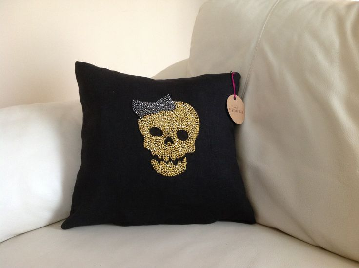 Mrs. Skull... #Didowa #HomeDecor #Yastık