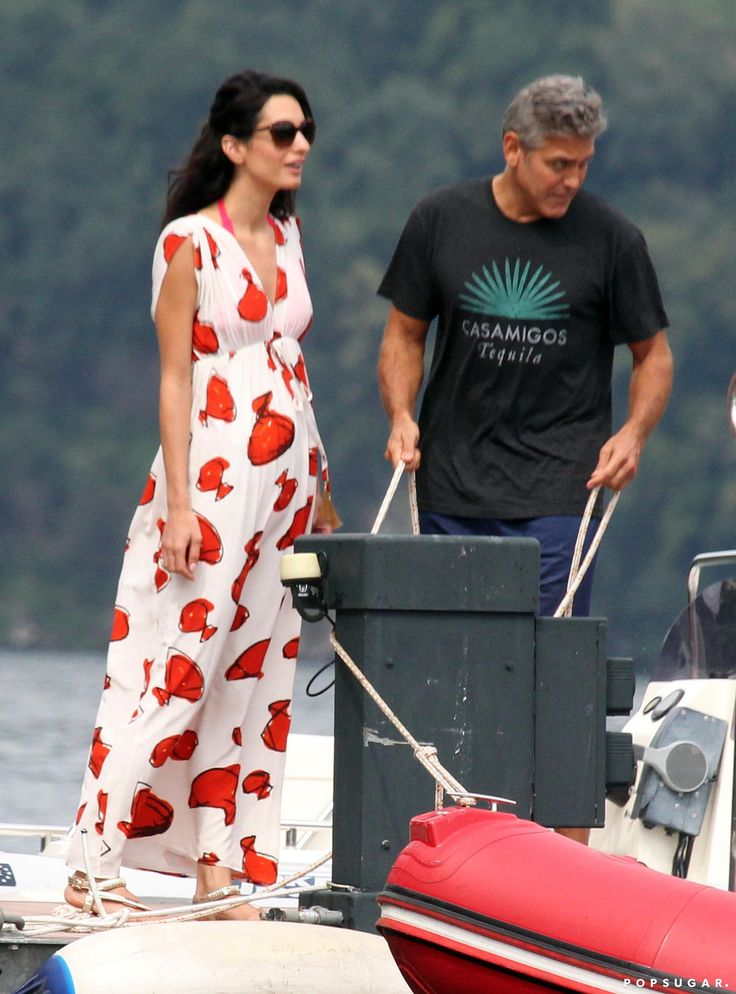 George Clooney and Amal Alamuddin Kissing in Italy | POPSUGAR Celebrity