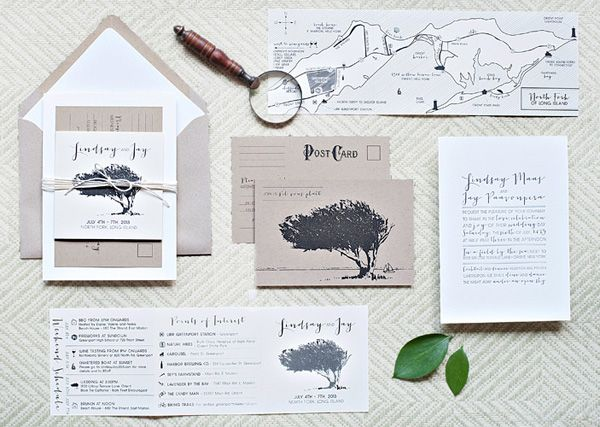Lindsay + Jay's Nature-Inspired Wedding Invitations, Design: Suite Paperie, Photo Credits: Lindsay Nathanson