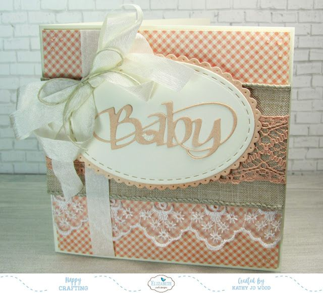 "Sweet ""Baby Love"" card using Graphic 45 papers.  Dies from Elizabeth Craft Designs and Suzanne Cannon"