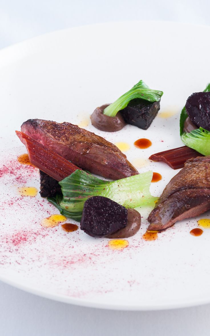 Roast wood pigeon with black pudding and baby beets by Matt Worswick