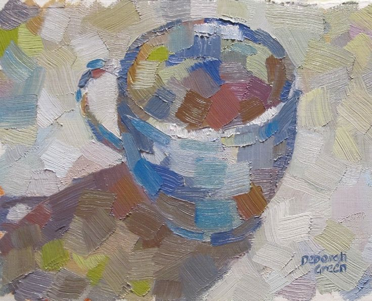 """Blue Cup"" SOLD, oil, 8 x 5"