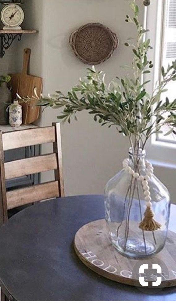 Gl Bottle Vase In 2019 Farmhouse Decor Vases