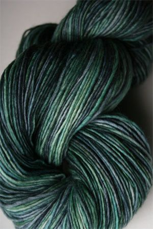 Hot on the heels of RASTA, Malabrigo's new Rastita yarn is a super-smooth, slightly felted single ply DK weight. Just stunning - smooth and silky with a slight sheen. And, of course, the malabrigo col
