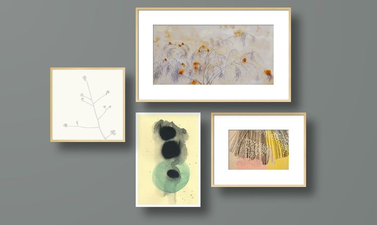 An Ornamental Appeal on Artfully Walls, gallery wall, muted pastel tones, abstract nature art