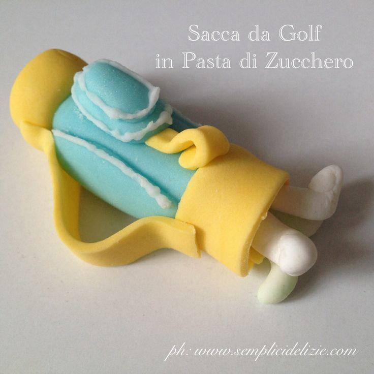 Sacca da golf per una torta a tema Golf