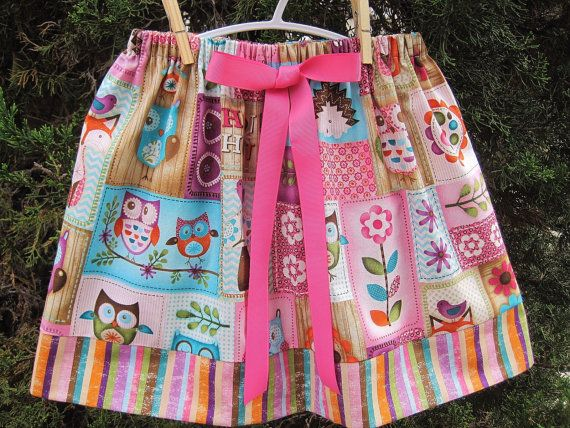 Elsa Skirt. OWLS AND STRIPES Toddlers 13 x Elastic by ElsaSieron, $20.00