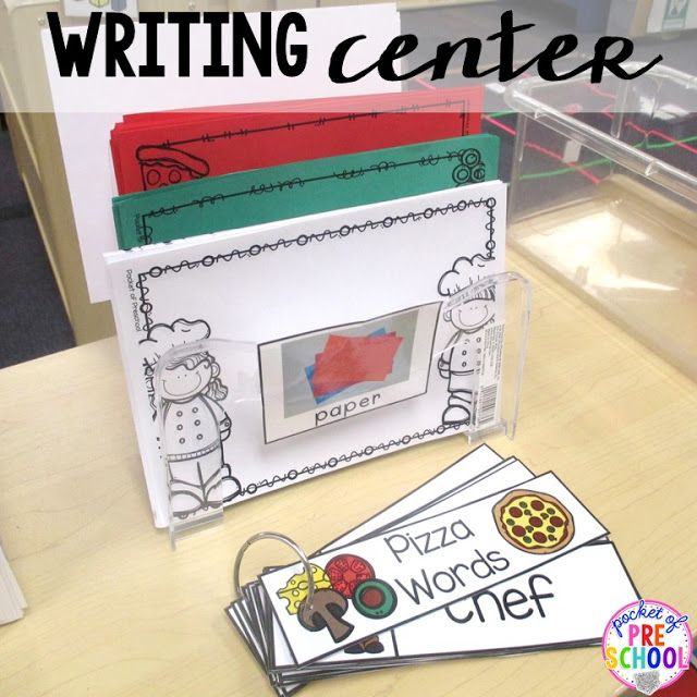 Preschool, Writing papers and Writing centers on Pinterest