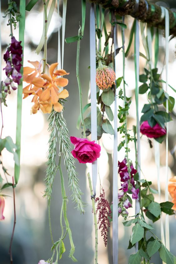 wedding arch hanging florals httpwwwdeerpearlflowerscomhanging - Wedding Designs Ideas