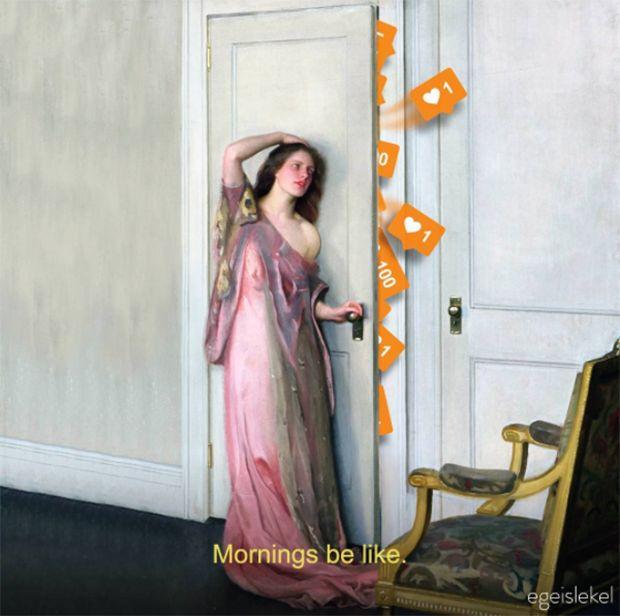 Ege Islekel transforma pinturas renascentistas ao adicionar símbolos atuais e cenários contemporâneos - Follow the Colours