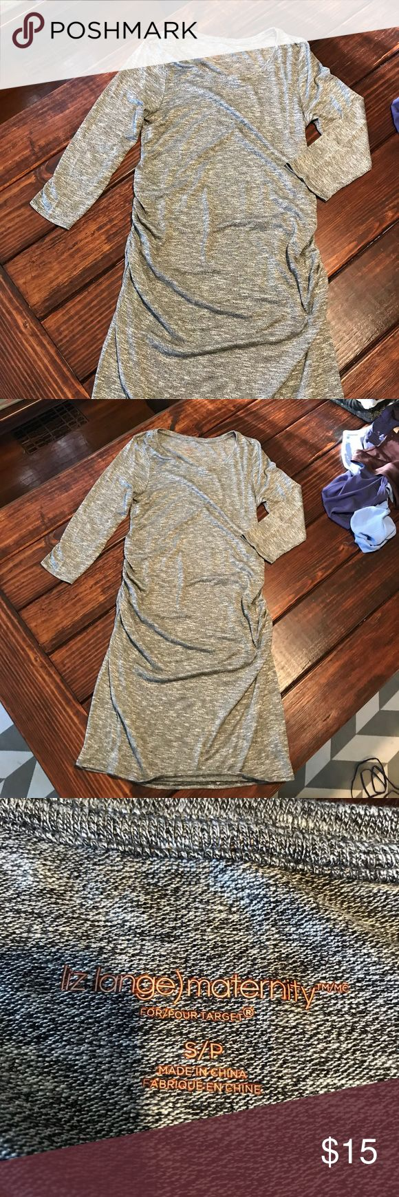 Heathered grey maternity dress Cute dress! Length from top of back to bottom is 39in. Size small Liz Lange for Target Dresses Midi