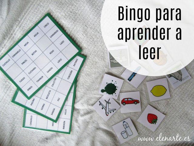 Bingo evolutivo para aprender a leer - Elenarte