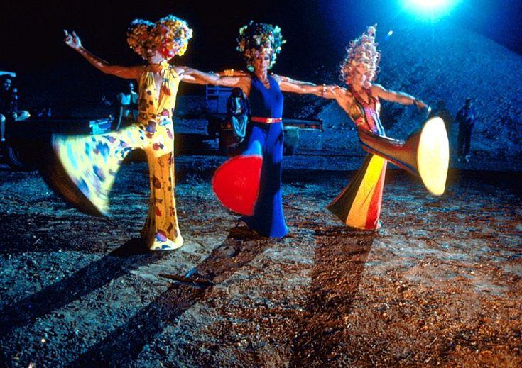 THE ADVENTURES OF PRISCILLA, QUEEN OF THE DESERT, Hugo Weaving, Terence Stamp, Guy Pearce, 1994 | Essential Film Stars, Hugo Weaving http://gay-themed-films.com/film-stars-hugo-weaving/