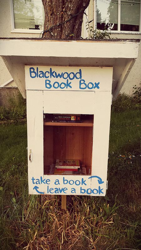 The Blackwood Book Box is born! -- a weekend family project and a gift to our community. :)