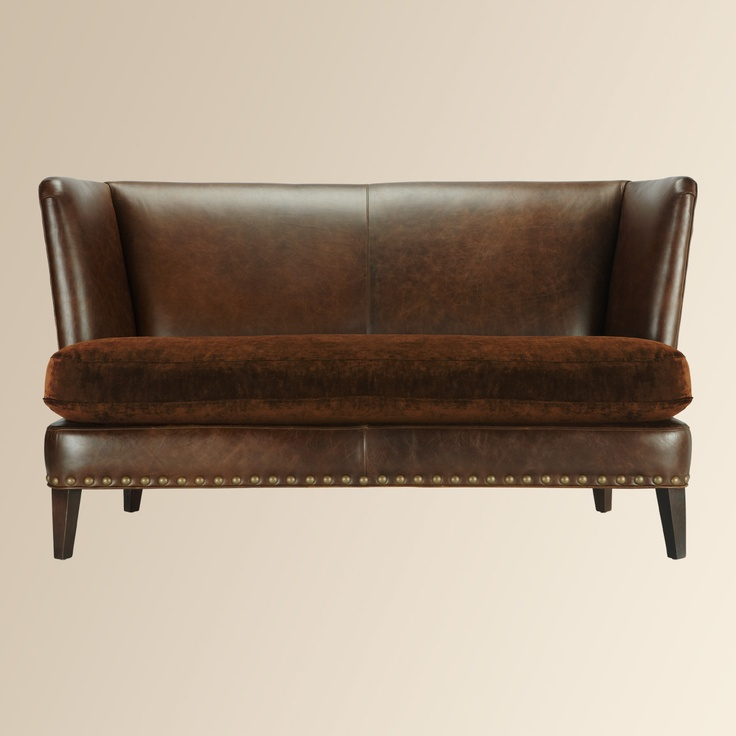Kendall Leather Apartment Sofa By Arhaus Furniture