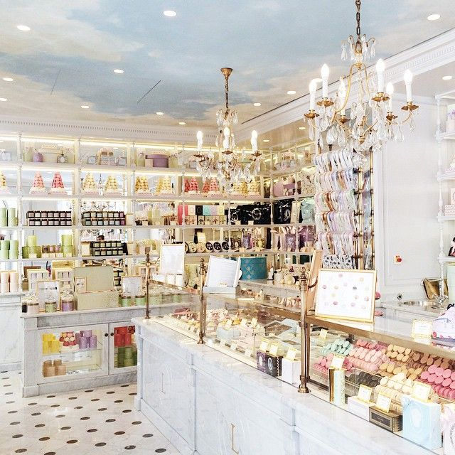 These exquisite Baguès chandeliers are available through our Gallery at AndreaFisherDesign.com Seen here at the lovely Ladurée of Cannes.