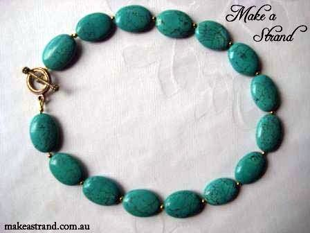 Solid turquoise choker set with silver metal spacer beads In stock: AU$220 + postage