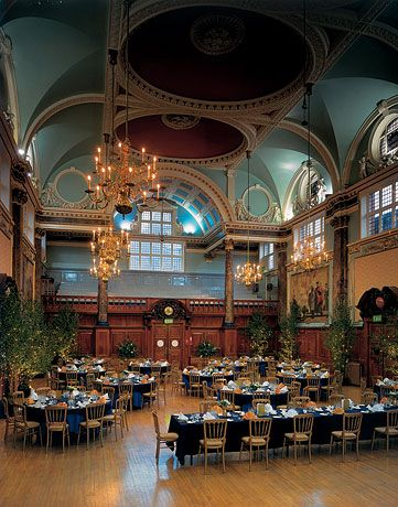 Chelsea Old Town Hall - A typical wedding reception in the Main Hall