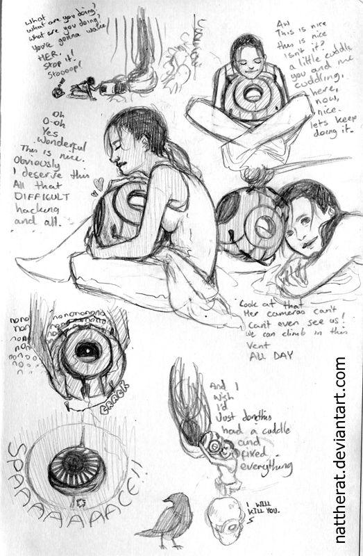 Portal sketchdump by nattherat.deviantart.com on @DeviantArt