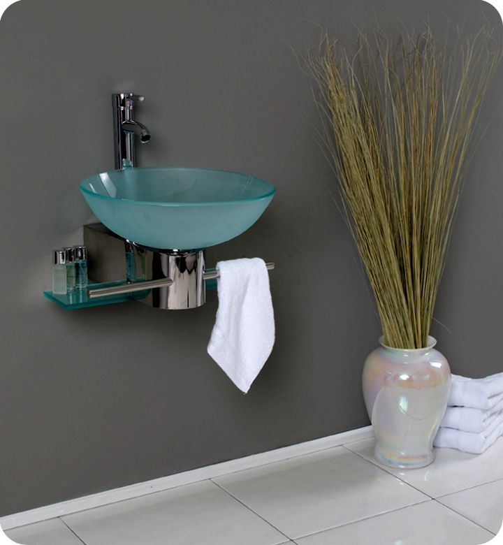 floating sinks with clear blue bowl and floor vase more floating sinks ...