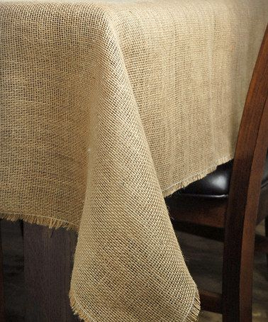 Look what I found on #zulily! Burlap Square Tablecloth #zulilyfinds