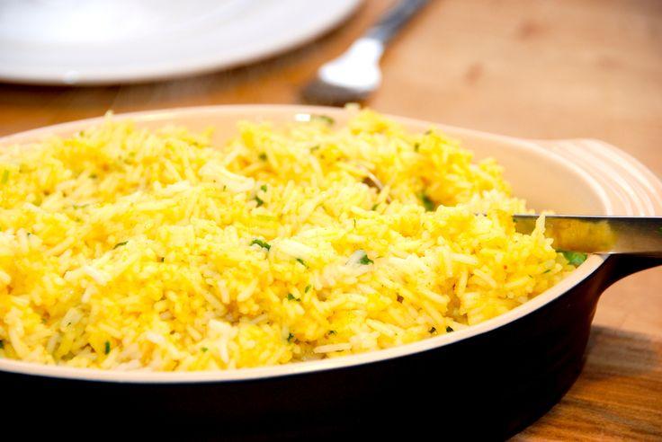 Karryris - kogte ris med karry og persille