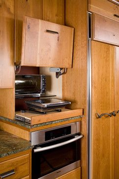 Kitchen storage for toaster oven  http://www.houzz.com/photos/5161864/Nobody-Stores-It-Better-eclectic-kitchen-seattle