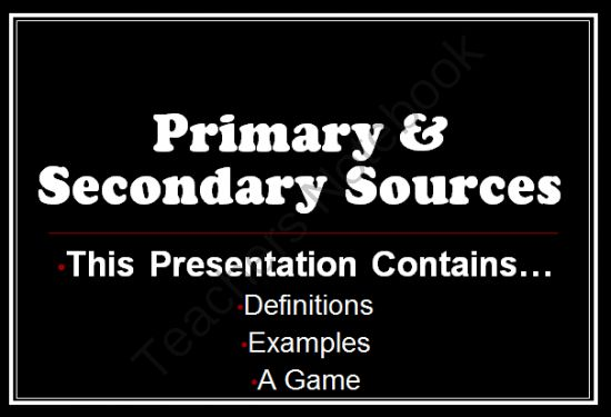 a description of the difference between the primary and secondary sources In this section, the difference between primary, secondary and tertiary sources is explained source and reference the source is the text or other work that provides the information that is being used (whereas the actual mention of the source that is being used is called a reference).