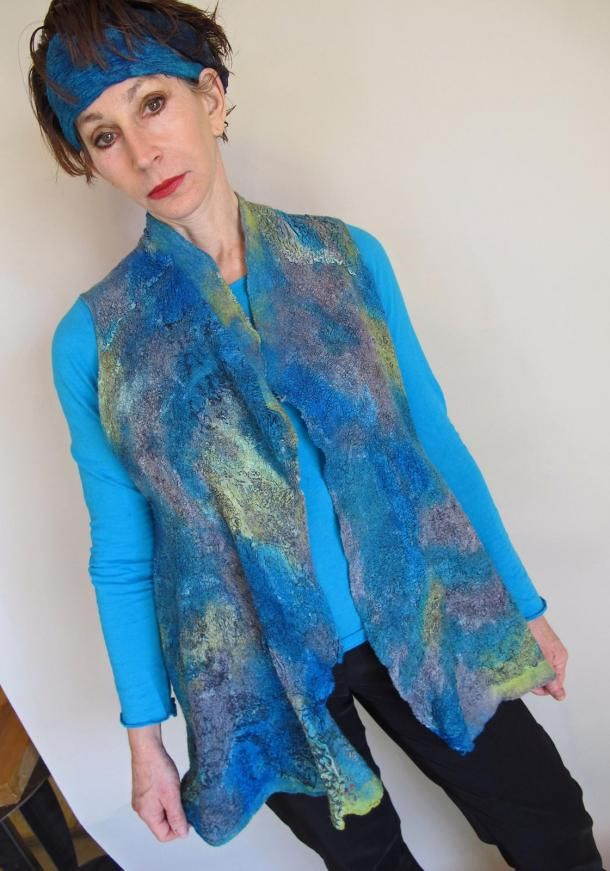 Reversible Nuno felted Seamless Vest