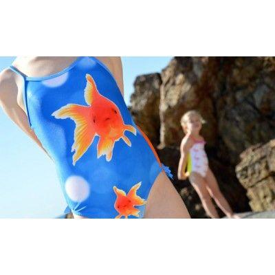 Girls Swimwear goldfish one piece
