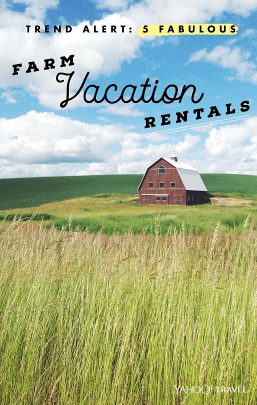 Would you stay at any of these farm vacation rentals? You might have to do farm chores.