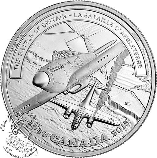 Coin Gallery London Store - Canada: 2015 $20 Second World War Battlefront Series: The Battle of Britain Silver Coin, $89.95