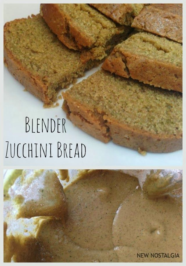 The Best Ever Zucchini Blender Bread -- making sure I get my zucchini seeds planted so we can eat lots of this!