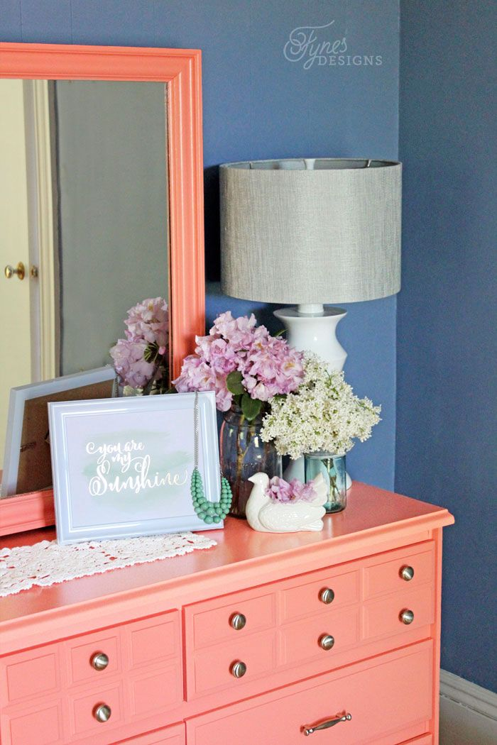 Oh Em Ghee, can you believe my mother let me do this? NEVER in a million years did I think she would say yes when I suggested painting her dresser coral! I nearly fell over, then I ran to the hardw...