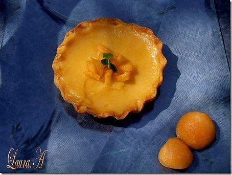 Minitarte cu crema de pepene galben - mod de preparare. Reteta aluat de minitarte. Cum se fac minitartele cu crema de pepene galben.