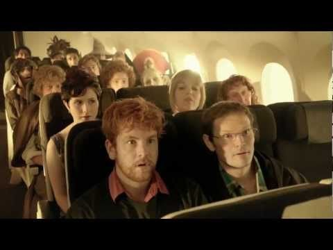 Cool safety video for Air New Zealand featuring Lord of the Rings characters, and Peter Jackson.