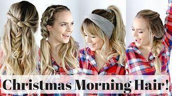 5 coiffures rapides pour le matin de Noël - Tutoriel sur les cheveux - YouTube #che ... - #che #YouTube # HairÑ ...