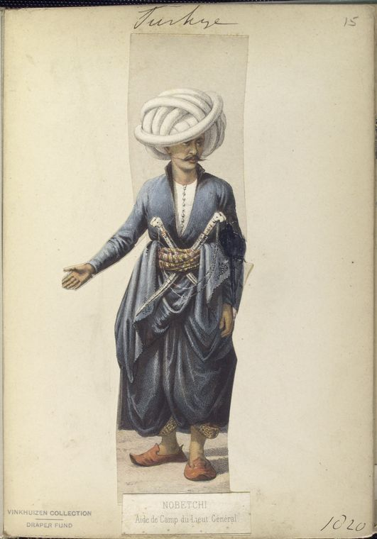 Aide de Camp to the Lieutenant General. The Vinkhuijzen collection of military uniforms / Turkey, 1818. See McLean's Turkish Army of 1810-1817.