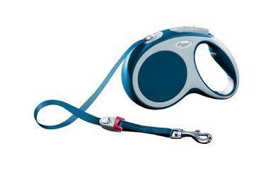 Flexi Vario Medium Tape Soft Retractable Belt Dog Leash Safety Collar Blue 55lbs