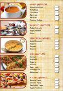 Menü İç Sayfa Tasarımları