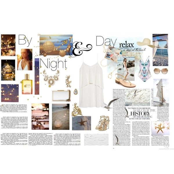 By night & Day by ljdia on Polyvore featuring polyvore fashion style MANGO Mara Hoffman Amedeo Canfora Paul Andrew Lanvin Arosha Luigi Taglia Miss Selfridge Melissa Joy Manning Topshop MARC BY MARC JACOBS Estée Lauder Kate Spade Reception Michael Kors Summer party beach