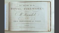 BBC Radio 3 - Duke of Buccleuch at Handel's harpsichord, with curator Paul Boucher at Boughton House. - In Tune - Handel at Boughton. An original score of the Music for the Royal Fireworks. This piece was commissioned by the ancestor of the Duke of Buccleuch, the Duke of Montagu