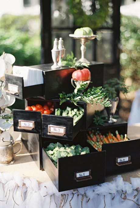 Food bar ideas for your wedding vegetable stand and food for Food bar ideas for wedding reception